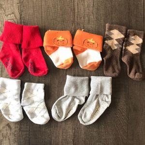 🔴3/$15 Baby boy set of socks 0-6
